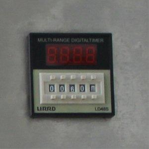 Bộ cài đặt thời gian gồm nút nhấn và bảng điện tử